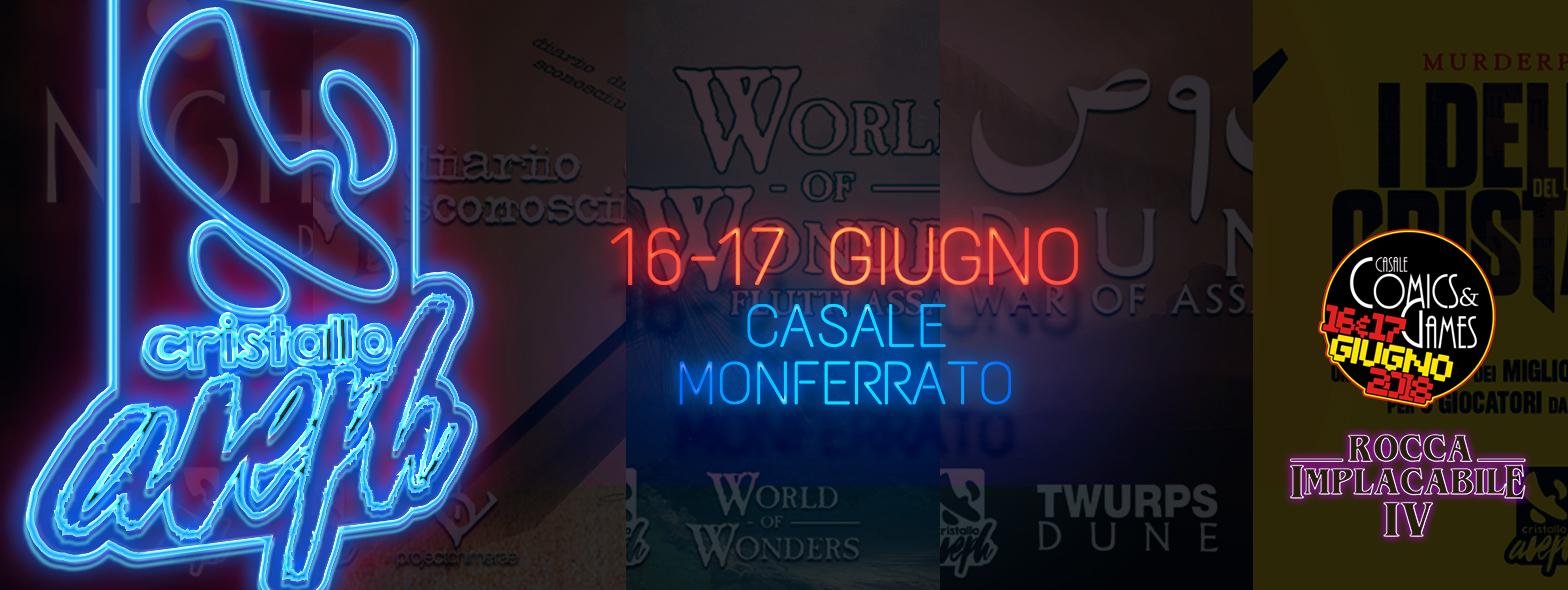 """cristalloaleph a """"Casale Comics & Games"""" il 16 e 17 giugno 2018 - Casale Monferrato"""